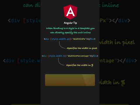 Angular: Learn how to use unit inline directly in the template in one minute