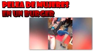 Pelea de mujeres en un burger
