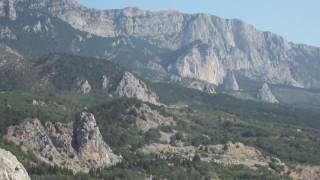 На спине горы Кошка остатки древнего укрепления | Крым 2016 август