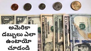 USA Currency || American Dollars Explained in Telugu || Telugu Vlogs in USA