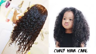 CURLY HAIR ROUTINE | MIXED KIDS HAIR CARE | SHEA MOISTURE