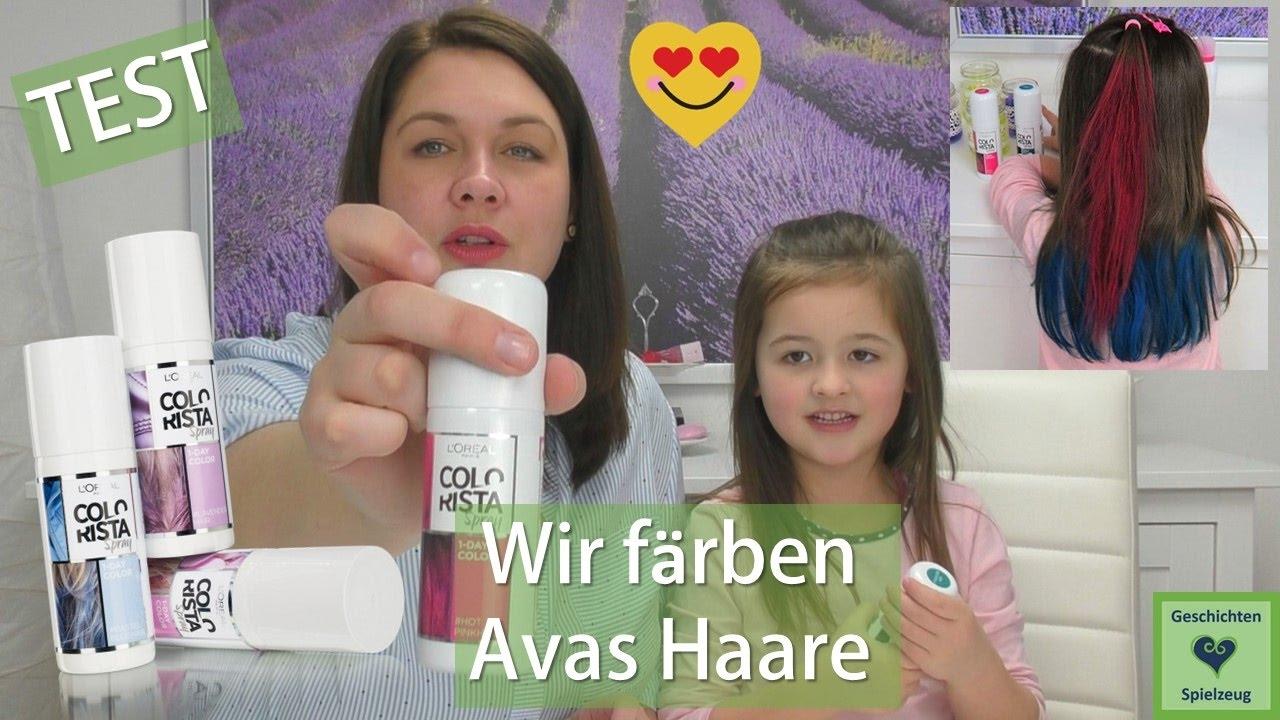Wir Färben Avas Haare Pink Und Türkis Loreal Colorista Spray