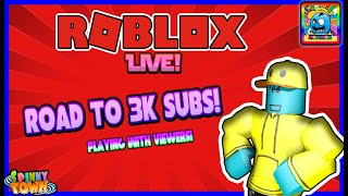Roblox #119 | ROAD TO 3000 SUBS! | LIVE | (sjk livestreams #360)