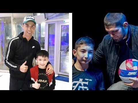Роналду, Хабиб и казахский мальчик-инвалид. Трогательная история знакомства с кумирами