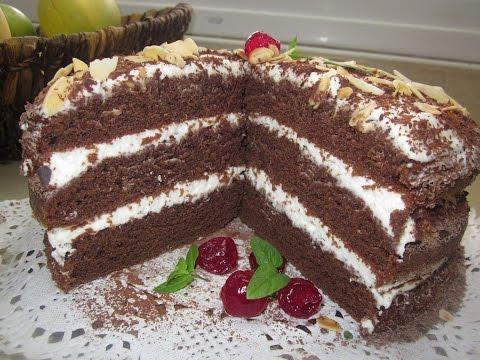 торт Пражский полосатый Торт на день рождения, рецепт