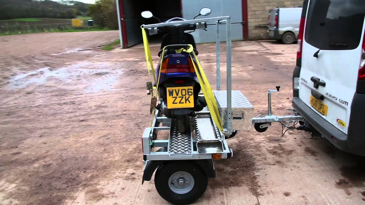 Wheelchair Trailer Black Ruched Chair Covers Cmf Sideload Scooter Motorcycle Youtube