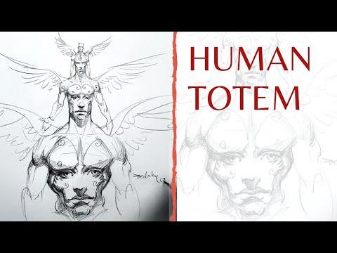 Character Design - Human TOTEM #halloween