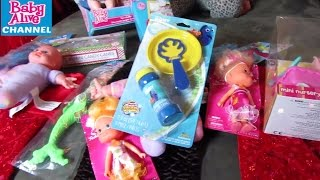 BABY ALIVE CHANNEL Dollar Store Christmas Doll Haul + Magical Scoops Baby name Reveal +  Instagram!