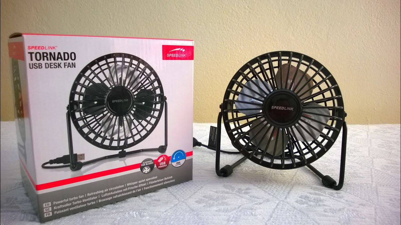 Tornado USB desk FAN - Speedlink | Unboxing \u0026 Hands on - YouTube