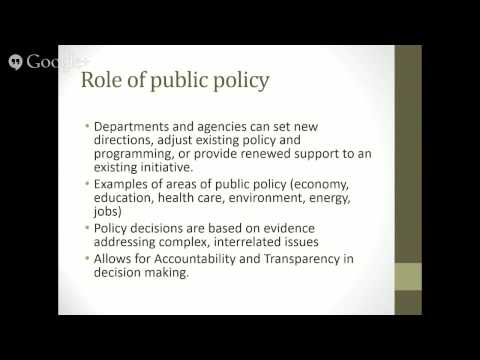 Geothink Student Webinar - Policy 101 with Cheryl Power