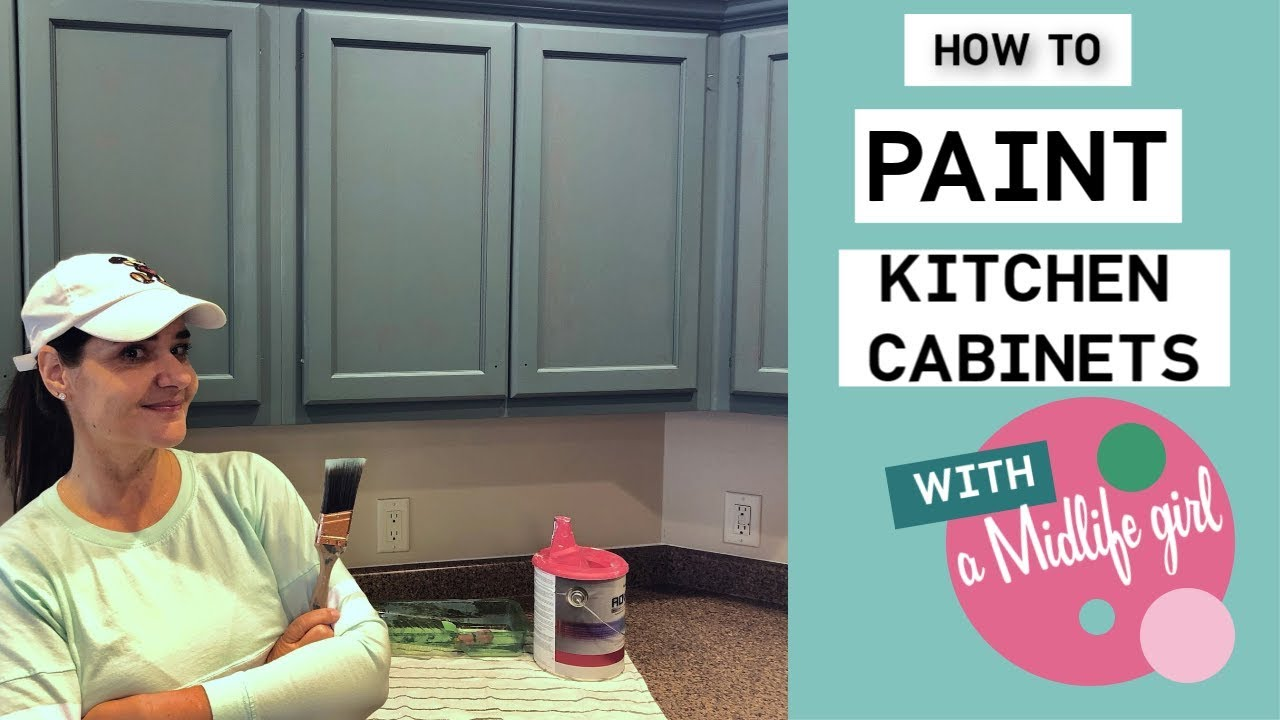 How To Paint Kitchen Cabinets With A Diy Hack To Save Time And Money Youtube