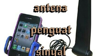 Antena penguat sinyal jaringan 3g H+ 4g dengan barang bekas!!