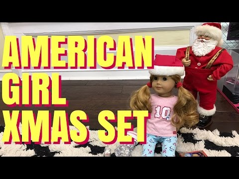 American Girl Christmas Eve Set And Pajamas Haul
