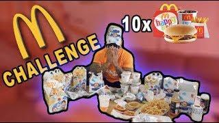 10 HAPPY MEAL McDONALDS CHALLENGE! **JEG BRÆKKER MIG** Vlog #78