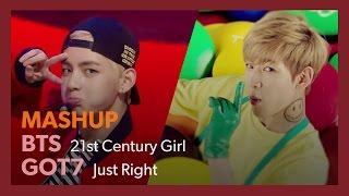 Video [MASHUP] BTS × GOT7|21st Century Girl + Just Right (Split Audio) / 방탄소년단 × 갓세븐|21세기 소녀 + 딱 좋아 download MP3, 3GP, MP4, WEBM, AVI, FLV Juni 2018