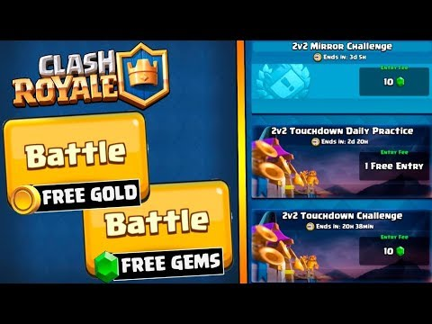 WOW! GEM RUSH & GOLD RUSH :: Clash Royale :: NEW 2V2 TOUCHDOWN GAMEPLAY + MIRROR MODE!