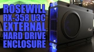 Rosewill RX-358 U3C External Hard Drive Enclosure - Unboxing & Installation