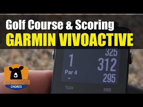 Garmin Vivoactive - How To Use Golf Activity