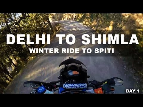 Delhi to Shimla - winter ride to Spiti - day 1