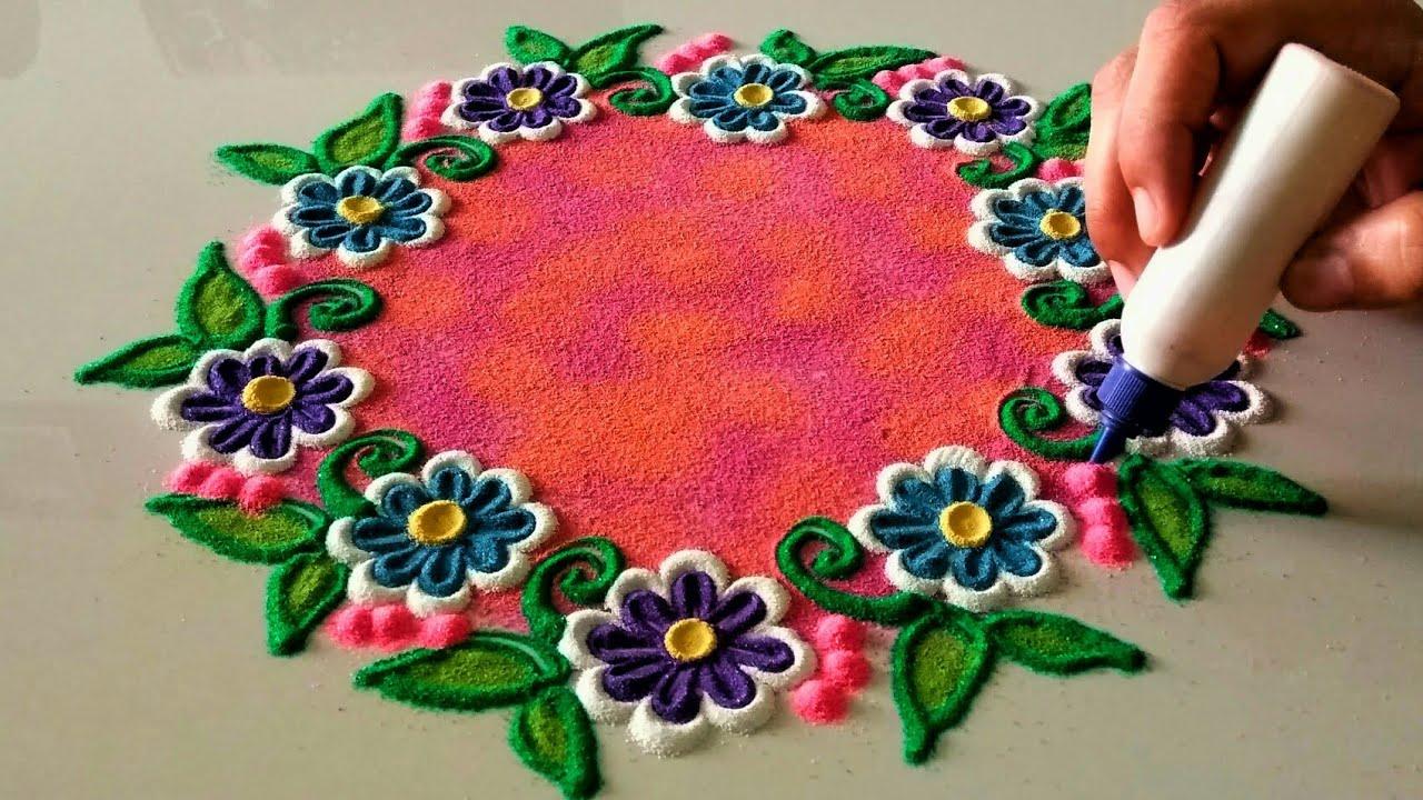 Very Very Innovative Beautiful Rangoli Design Simple Craft Ideas
