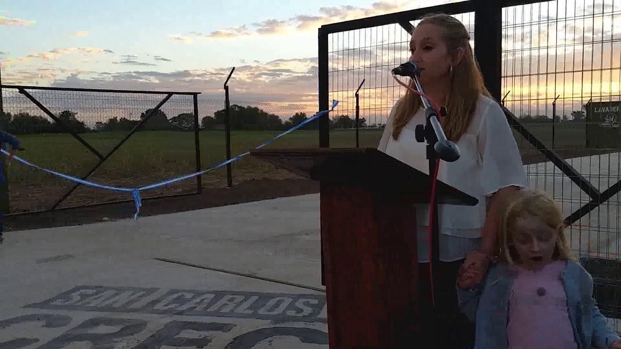 Victoria Tejeda: Se inauguró el galpón comunal