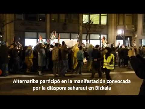 Alternatiba en la manifestación por las condenas a los militantes saharauis de Gdem Izik