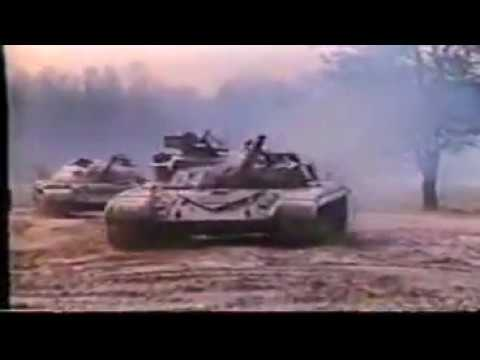 T-64 tank maneuvers........