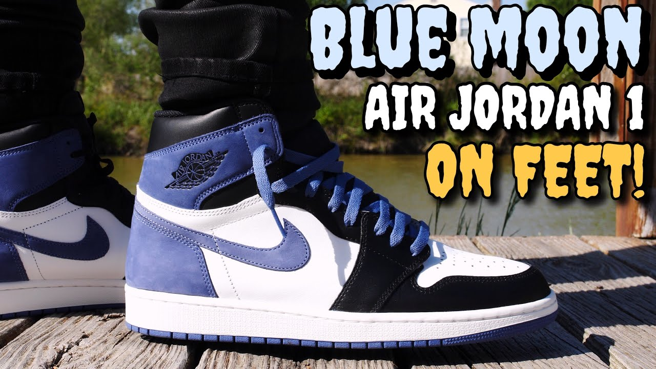 "huge selection of e2056 f2f5e ""BLUE MOON"" AIR JORDAN 1 ON FEET REVIEW! HEAT OR HYPE?"