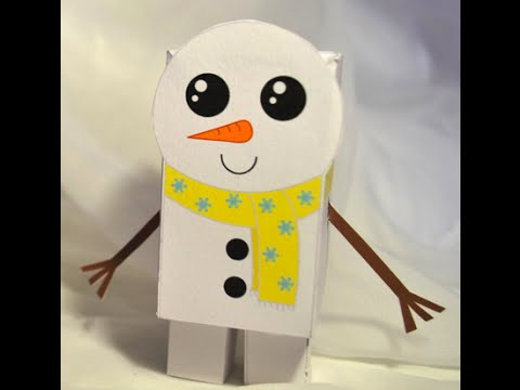 Как сделать снеговика из картона фото 13