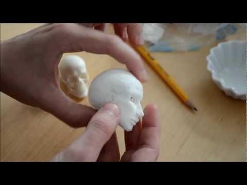 Sculpting a small BJD head in paper clay