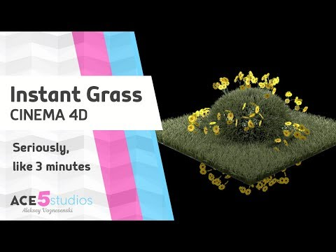 Instant Grass in Cinema 4D tutorial - Renderosity Magazine