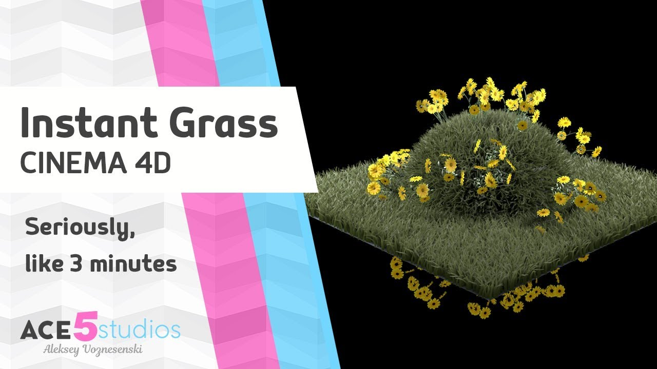 Instant Grass in Cinema 4D tutorial