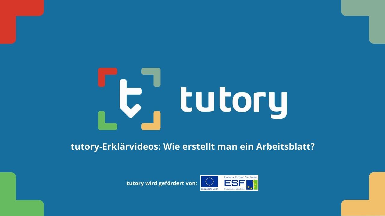 tutory-Erklärvideos: Wie erstellt man ein Arbeitsblatt? - YouTube