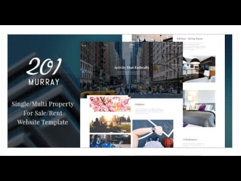 201 Murray – Single/Multi Property For Sale/Rent Website Template | Themeforest Download