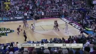 Mississippi State Game Winning shot VS UCONN! The shot ended the streak