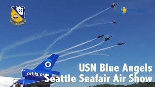 USN Blue Angels | 2018 Boeing Seafair Air Show in Seattle | The Museum of Flight