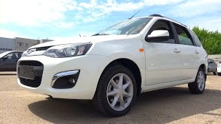 2015 Lada Kalina 2. Start Up, Engine, and In Depth Tour.
