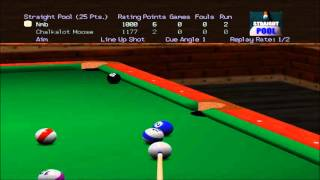 Virtual Pool 64 Straight Pool Vídeo 6