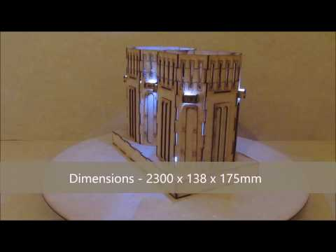Wargame-model-mods –  Reactor Cores – 28mm warhammer Buildings and terrain  – laser cut mdf