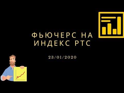 23 01 2020 фьючерс на индекс РТС (Ri). Внутридневная и среднесрочная торговля.