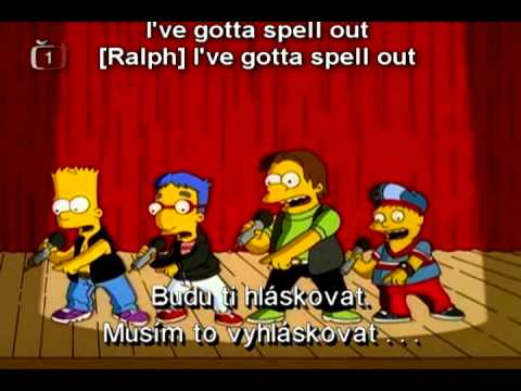 Simpsonovi - Nová chlapecká kapela písně | The Simpsons - Bart's boys band songs