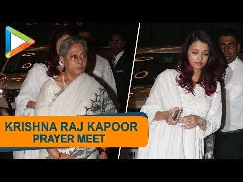 Late Krishna Raj Kapoor's Prayer Meet   Amitabh Bachchan, Rekha, Madhuri Dixit & others   Part 7