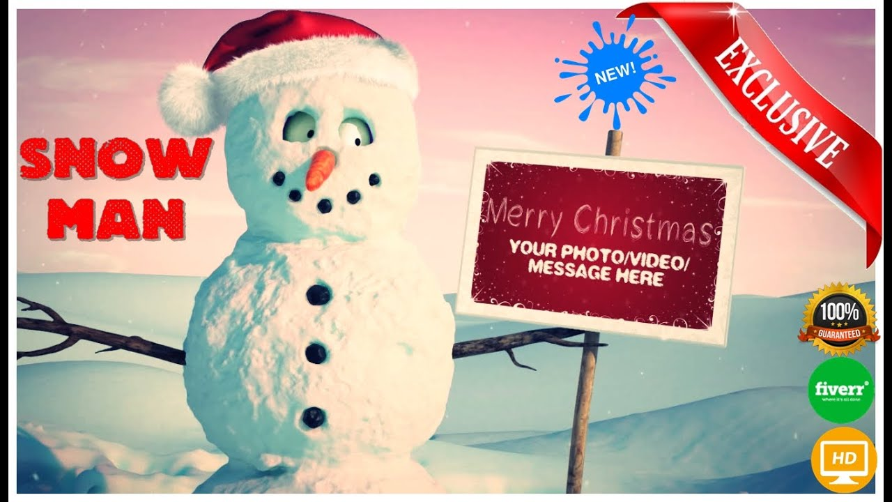 Funny Christmas Video Christmas Videos For Children Snowman