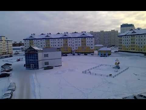Картинки города радужный зимой