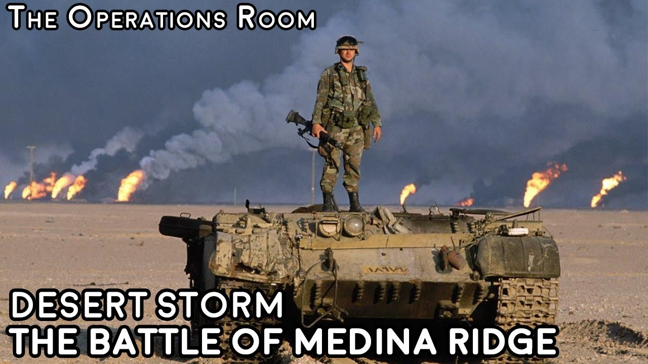 Desert Storm - The Ground War, Days 4 & 5 - The Battle of Medina Ridge and Victory - Animated