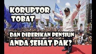 Prabowo Minta Koruptor Tobat Kembalikan Uang Dan Berikan Pensiun Sehat Pak
