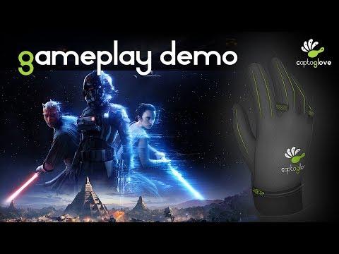 Star Wars Battlefront gameplay with CaptoGlove virtual glove