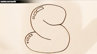 How to draw bubble letter S