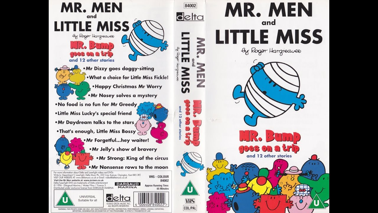 Mr. Men and Little Miss: Mr. Bump Goes on the Trip (2002 UK VHS ...