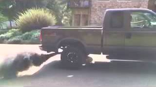 6.0 Power stroke Diesel Rolling coal Diesel Burnout dumping smoke 4